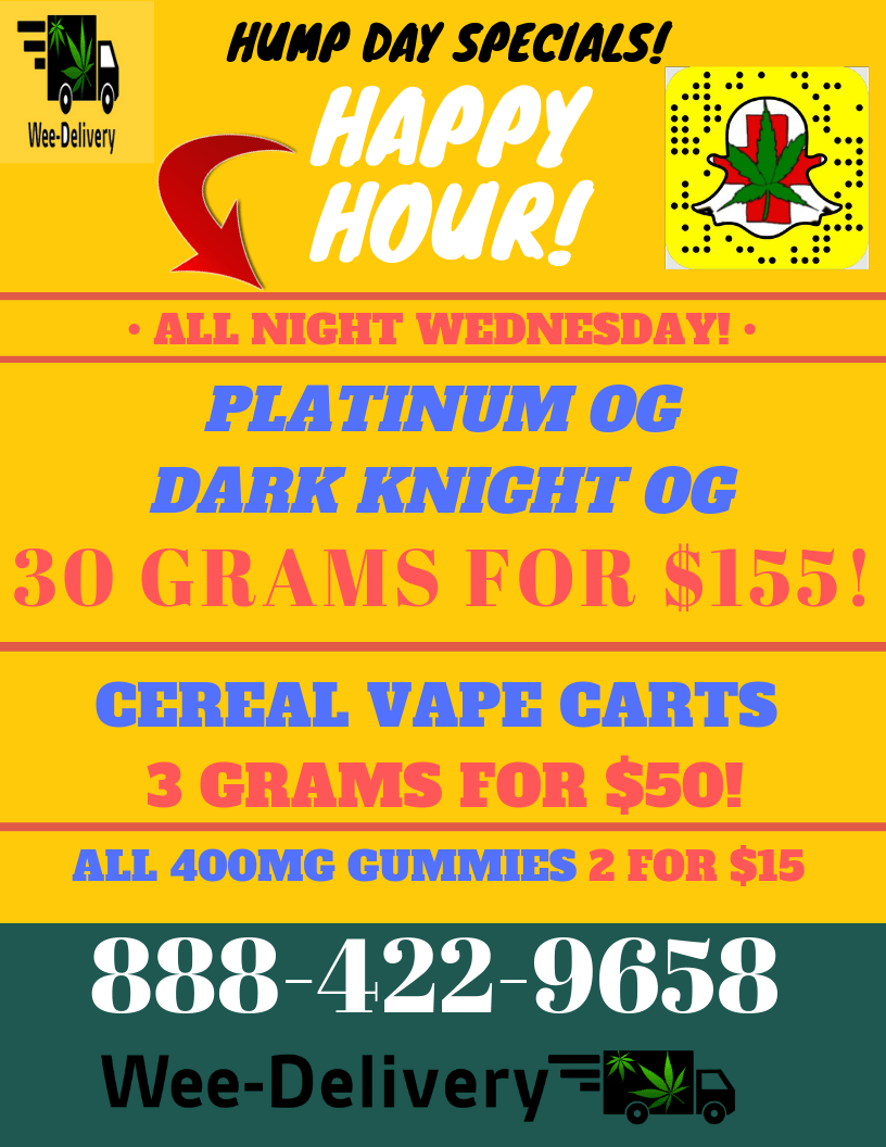 Hump Day Specials June, 26 2019 Wee -delivery