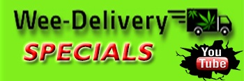 Wee-Delivery Kedical Marijuana Banner Logo Specials